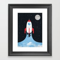 Rocket Framed Art Print