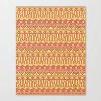 Aztec Duo Color Pattern Canvas Print