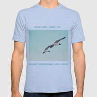 Come fly with me, let's fly, let's fly away Mens Fitted Tee Athletic Blue SMALL