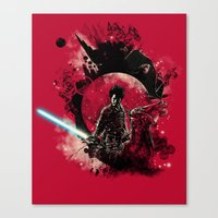 bad side of the samurai Canvas Print
