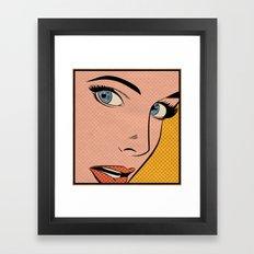 Pop Woman Framed Art Print