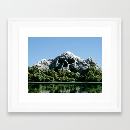 168. Skull Mountain Framed Art Print