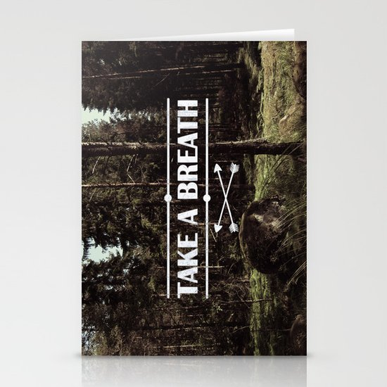 Take a breath Stationery Card
