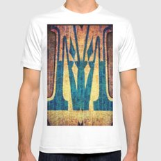M of Spade  SMALL White Mens Fitted Tee
