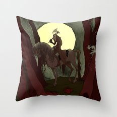 The Headless Horseman Throw Pillow