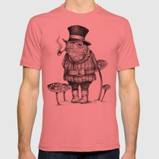 MISTER FROG Mens Fitted Tee Pomegranate SMALL