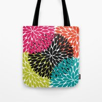 Big Tropical Flowers Tote Bag