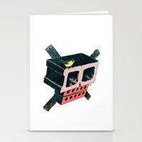 Brick Crossbones and a Bird Stationery Cards