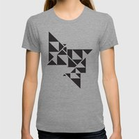Triangle Angles Womens Fitted Tee Tri-Grey SMALL