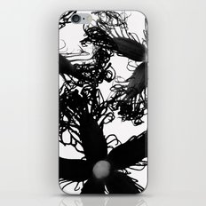 Three Black Flowers iPhone & iPod Skin