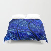 Balloon Flower Fractal Duvet Cover