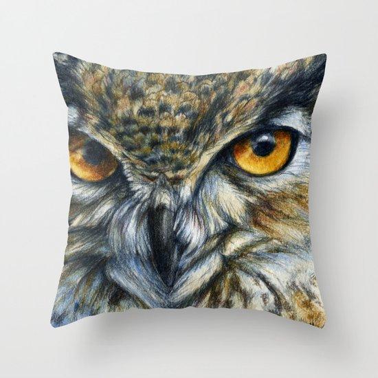 Owl 811 Throw Pillow