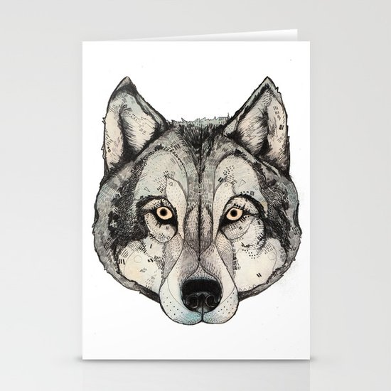 Wolf Mask Stationery Card