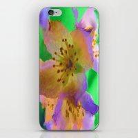 Purple Flowers - Watercolour Painting iPhone & iPod Skin