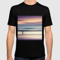 Sharing the Magic - abstract seascape at sunset Mens Fitted Tee Black SMALL