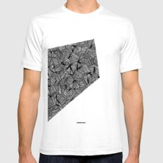 - the place - Mens Fitted Tee SMALL White