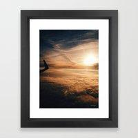 from the plane window Framed Art Print