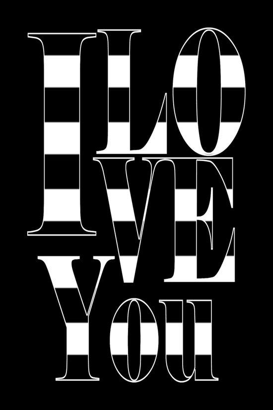 I love you - black Canvas Print