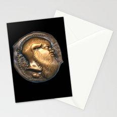 Greek Coin Replica - Satyr Stationery Cards