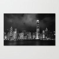 Hong Kong Skyline [Black… Canvas Print
