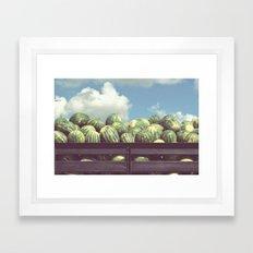 Watermelons, Immokalee Framed Art Print