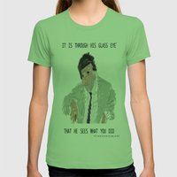 columbo never forgets Womens Fitted Tee Grass SMALL