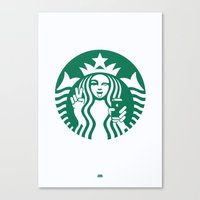 Selfie - 'Starbucks ICONS' Canvas Print