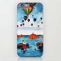 iPhone & iPod Case featuring Rising Circus by M. Everitt