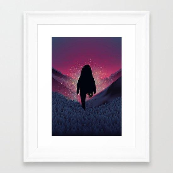 Never Look Back Framed Art Print