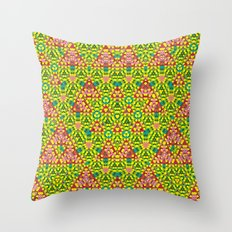 colored structure Throw Pillow