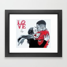 Black Love- Dwayne & Whitley Framed Art Print