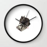 DJ Squirrel Wall Clock