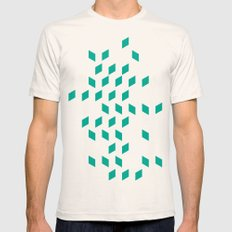 rhombus bomb in emerald Mens Fitted Tee Natural SMALL