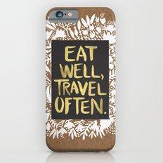 Eat Well, Travel Often (on Kraft) Slim Case iPhone 6s