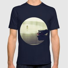 Record Player Mens Fitted Tee Navy SMALL