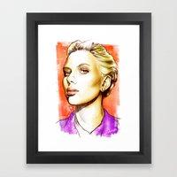 Scarlett Johansson - Pop… Framed Art Print