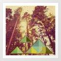 Campsite Art Print