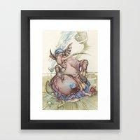 Pirate Elephant Framed Art Print