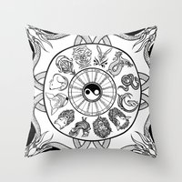 chinese zodiac Throw Pillow