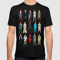 Outfits of Bowie Fashion on White Mens Fitted Tee Tri-Black SMALL