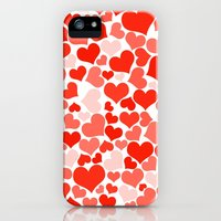iPhone Cases featuring Love, Romance, Hearts - Red by sitnica