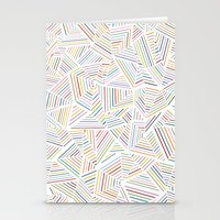 Abstraction Linear Rainb… Stationery Cards