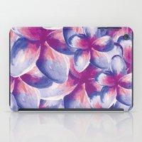 Purple Plumeria Floral W… iPad Case
