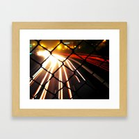 Streaming Light Framed Art Print