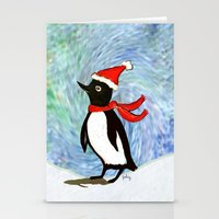 Holiday Penguin Stationery Cards