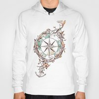 Hoodies featuring Bon Voyage by Norman Duenas