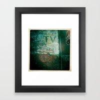 Stop Your TV Framed Art Print