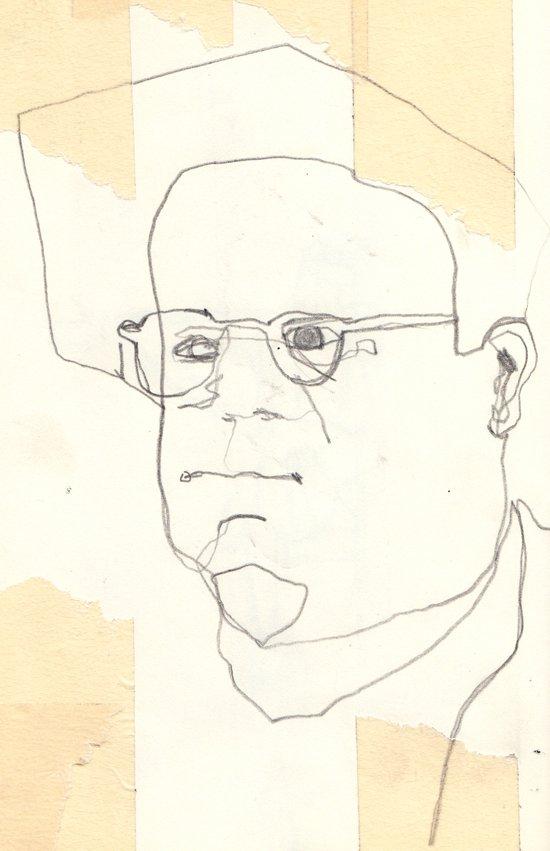 Line Glasses Art Print