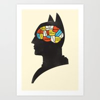 Bat Phrenology Art Print