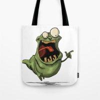 Slimer and his Peep Tote Bag